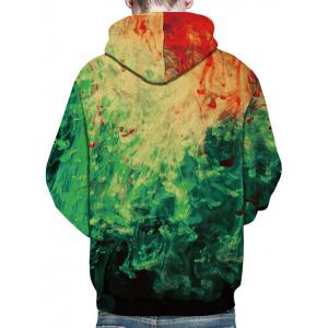 3D Paint Pullover Hoodie -