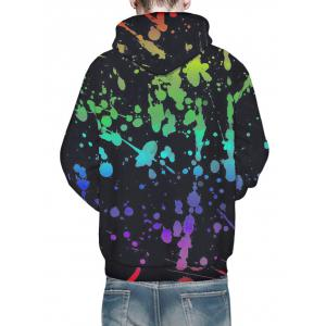 Kangaroo Pocket 3D Paint Splash Hoodie -