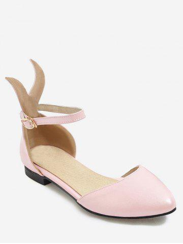 Plus Size Ankle Strap Cartoon Ear Leisure Sandals - PINK