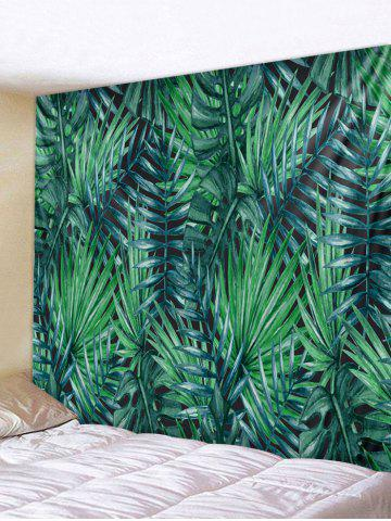 Outfits Wall Hanging Art Tropical Leaves Print Tapestry