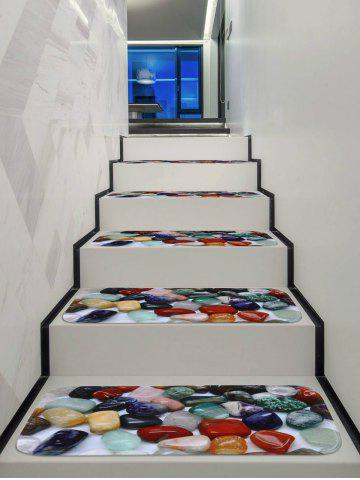 Online Colored Stones Printed Non-slip Stair Rug Runners