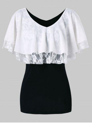 Buy Lace Panel Half Sleeve Blouse