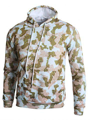 Hot Camo Spot Print Kangaroo Pocket Casual Hoodie