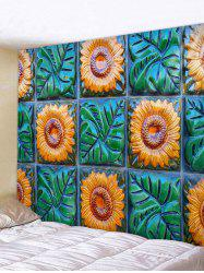 Sunflowers Plants Print Wall Decor Tapestry -