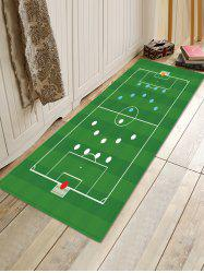 Football Court Layout Pattern Water Absorption Area Rug -