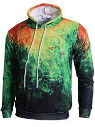 Sweat à Capuche Pull-over 3D Peinture -