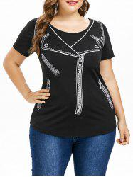 Plus Size Jacket Illusion T-shirt -