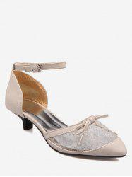Plus Size Chic Splicing Bowknot Pointed Toe Ankle Strap Sandals -