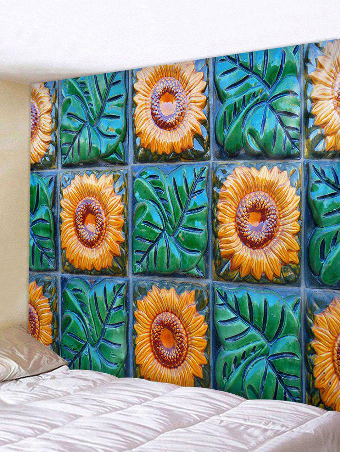 Fancy Sunflowers Plants Print Wall Decor Tapestry