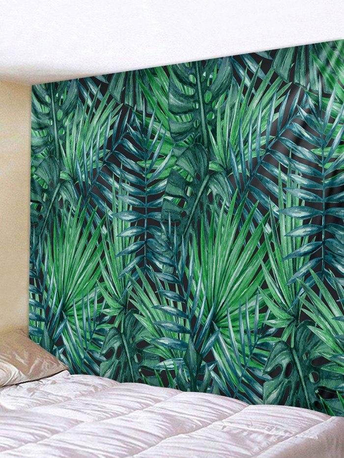 Unique Wall Hanging Art Tropical Leaves Print Tapestry