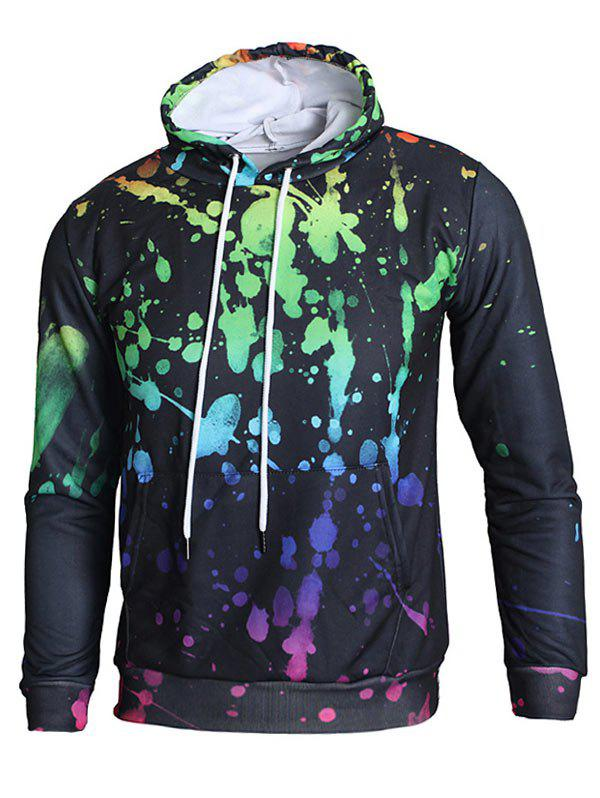 Shops Kangaroo Pocket 3D Paint Splash Hoodie