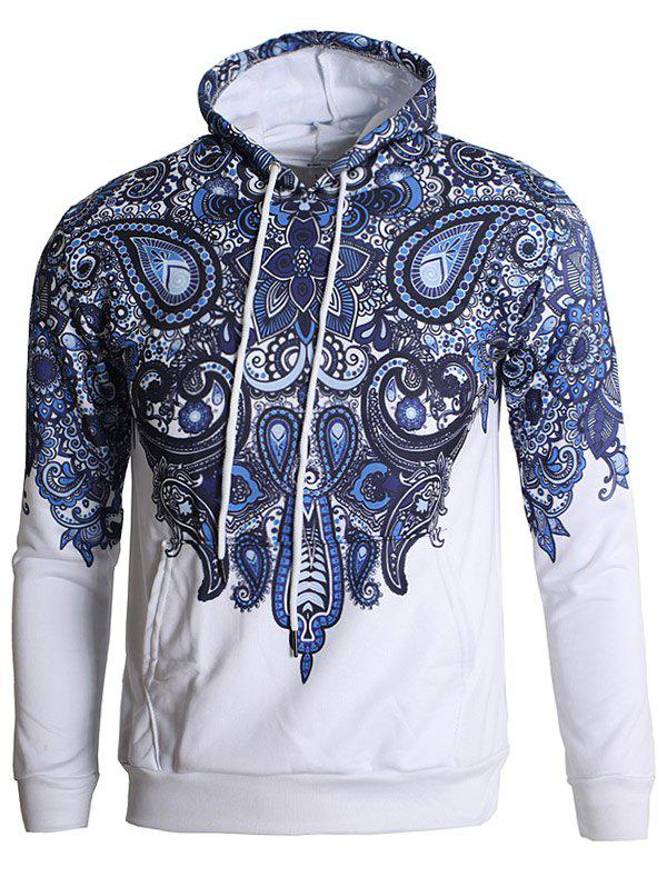Outfits Paisley Print Pullover Hoodie