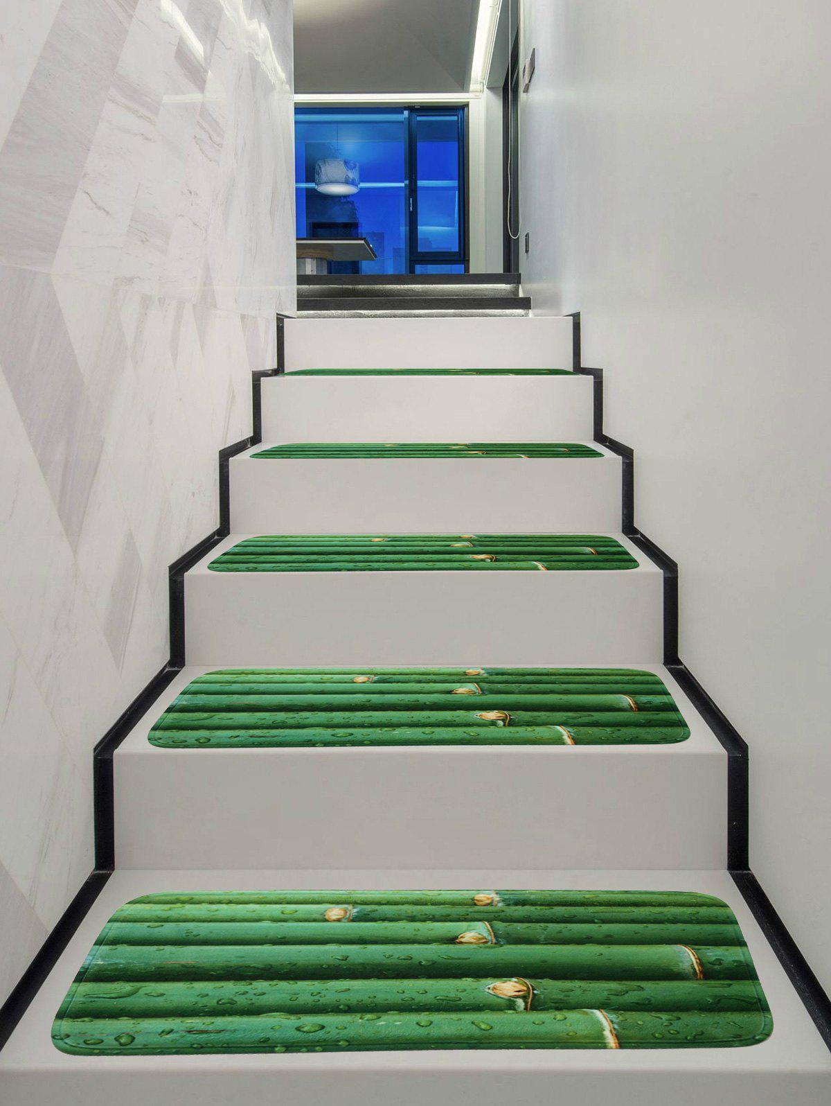 Dew Bamboos Printed Decorative Stair Treads Rugs