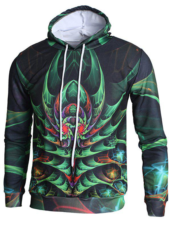 Store 3D Plant Print Pullover Hoodie