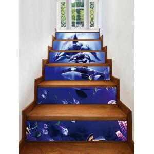 Dolphin Fishes Decorative Stair Stickers -