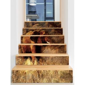 Elephant Pattern Removable Stair Stickers -