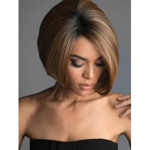 Perruque Synthétique Colormix Court Bob Side Side Sideing -