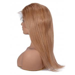 Middle Part Short Straight Lace Front Human Hair Wig -