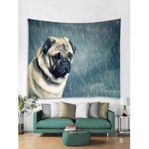 Dog in the Rain Pattern Wall Hanging Tapestry -