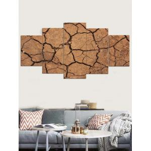 Cracked Ground Print Unframed Split Canvas Paintings -