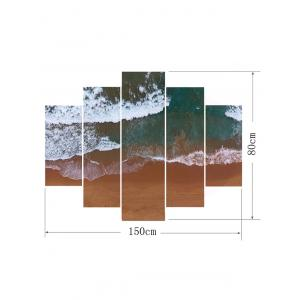 Beach Sea Waves Printed Wall Decor Canvas Paintings -