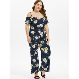 Plus Size Flower Cami Jumpsuit -