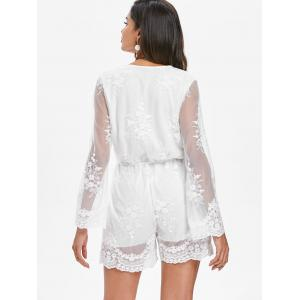 Long Sleeve Lace Romper -