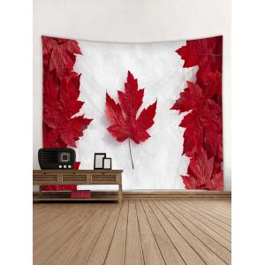 Canada Maple Leaf Print Wall Tapestry Hanging Decor -