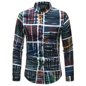 Casual Cross Lines Printed Shirt -