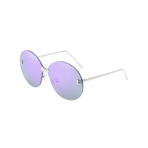 Anti Fatigue Rimless Oversized Round Sunglasses -