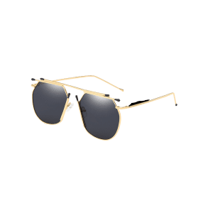 Unique Top Bar Alloy Pilot Sunglasses -