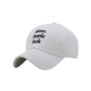 Unique Letter Sentence Embroidery Sunscreen Hat -