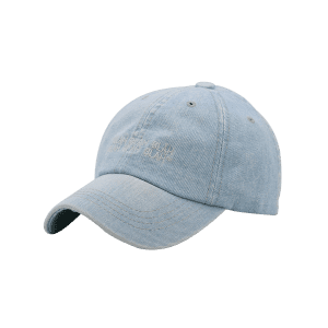 Fun Letter Embroidery Washed Dyed Baseball Cap -