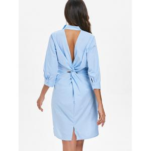 Retour Twist Cut Out Robe à rayures -
