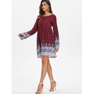 Full Sleeve Ethnic Print Casual Dress -