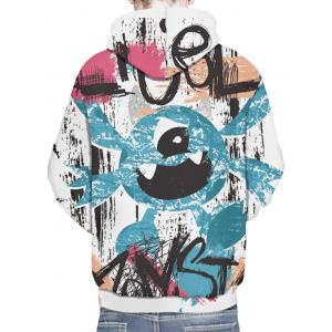 Hand-painting Pattern Kangaroo Pocket Casual Hoodie -