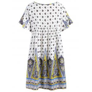 Ethnic Print Short Smock Dress -