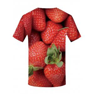 3D Strawberry Print Casual T-shirt -