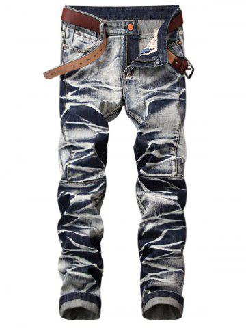 Hot Tie Dye Zip Fly Straight Jeans