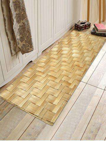 Outfits Bamboo Weaving Pattern Bath Floor Rug