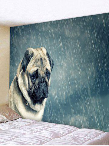 Chic Dog in the Rain Pattern Wall Hanging Tapestry