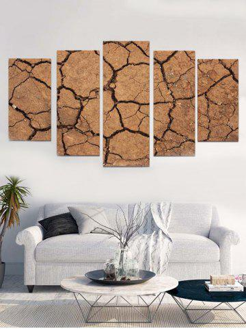 Cheap Cracked Ground Print Unframed Split Canvas Paintings