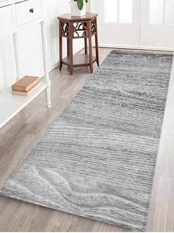 Vertical Wood Grain Printed Area Rug - Gray Cloud - W24 Inch * L71 Inch