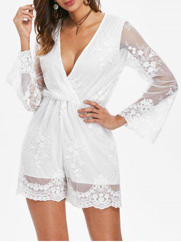 Buy Long Sleeve Lace Romper