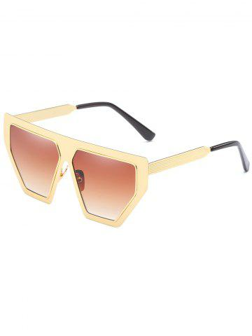 Cheap Unique Metal Frame Irregular Sun Shades Sunglasses