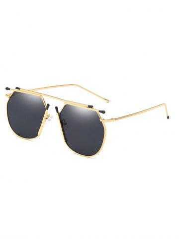 Trendy Unique Top Bar Alloy Pilot Sunglasses