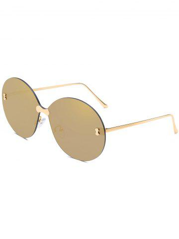 Best Anti Fatigue Rimless Oversized Round Sunglasses