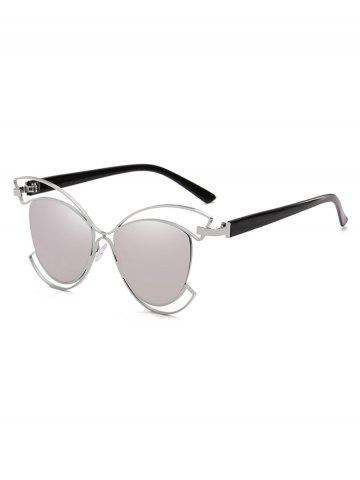 Cheap Novelty Metal Hollow Out Frame Catty Sunglasses