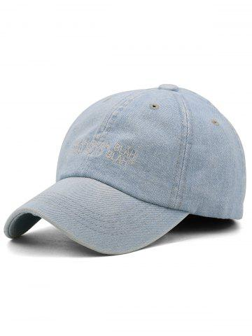 New Fun Letter Embroidery Washed Dyed Baseball Cap