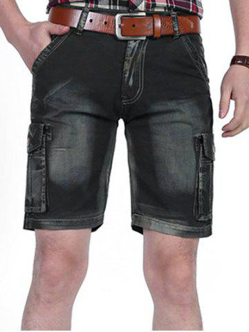 Affordable Casual Dyed Pockets Cargo Shorts